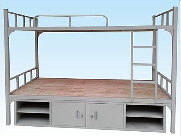 上下铺铁床带床下柜