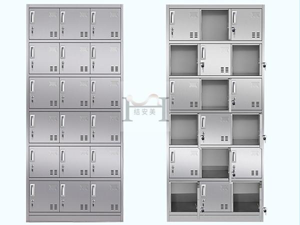 不锈钢24门柜