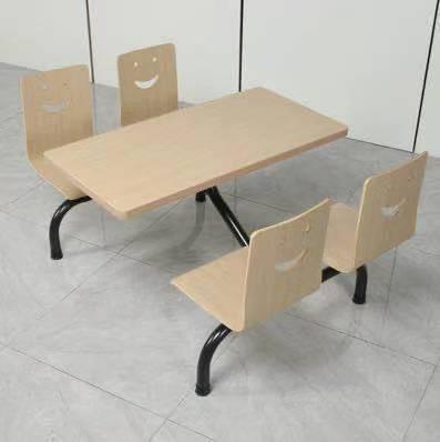 4人铁圆管餐桌