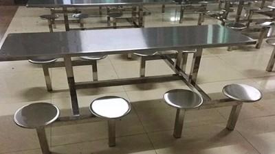 适合公司食堂餐桌椅8人连体