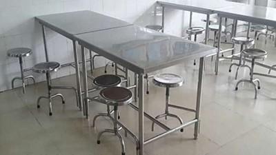 食堂不锈钢餐桌连体