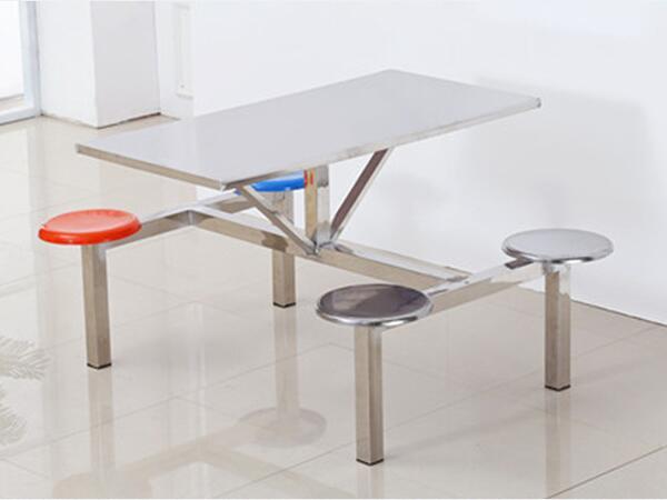 食堂连体餐桌椅厂家