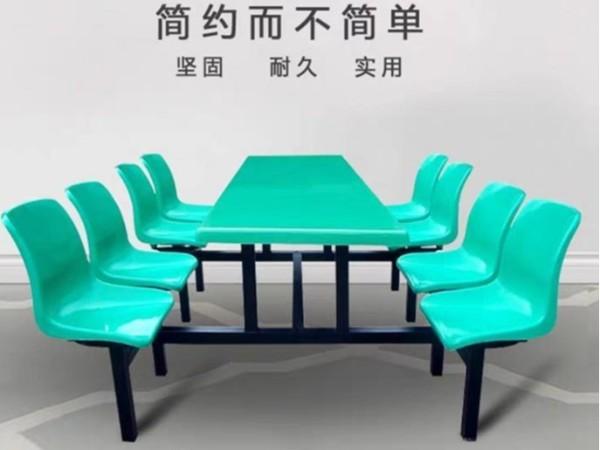 玻璃钢餐桌8人