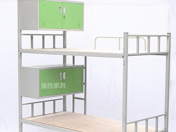 双层铁架床带床头柜
