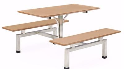 企业饭堂餐桌椅尺寸