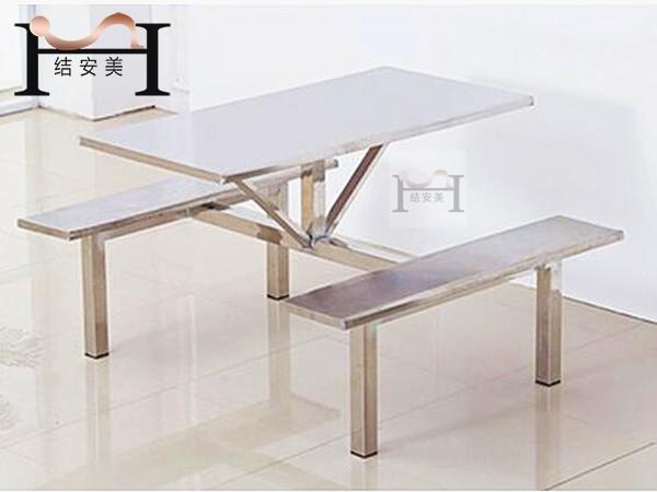 公司食堂4人位不锈钢餐桌