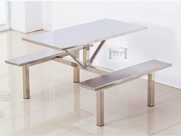 食堂4人不锈钢餐桌椅