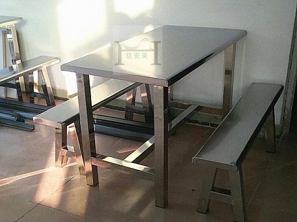 6人不锈钢餐桌椅