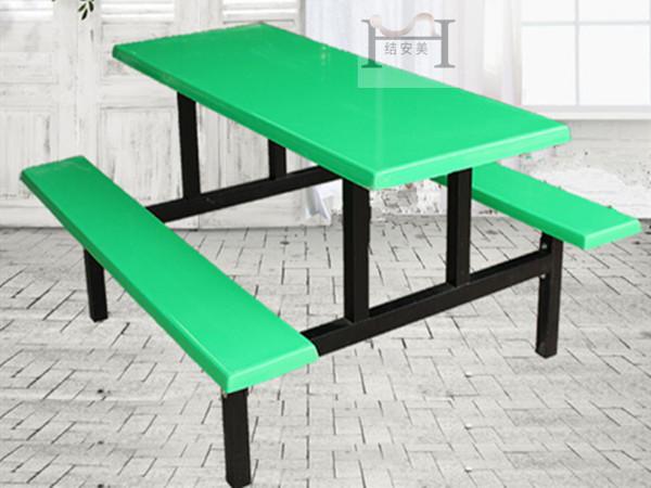 六人位连体餐桌椅