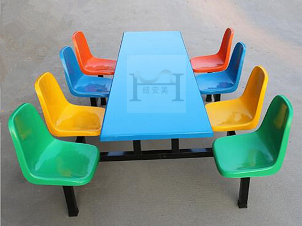 饭堂玻璃钢餐桌椅
