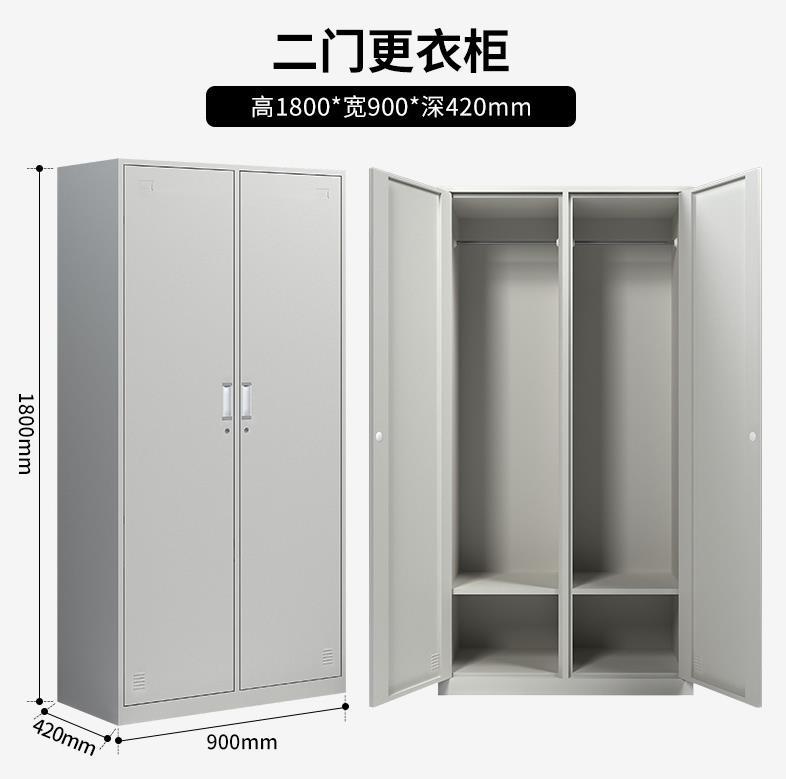 二门铁皮衣柜